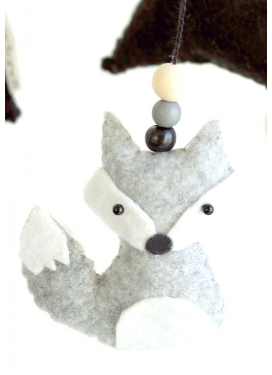 Fox and Snowing Mountain Mobile