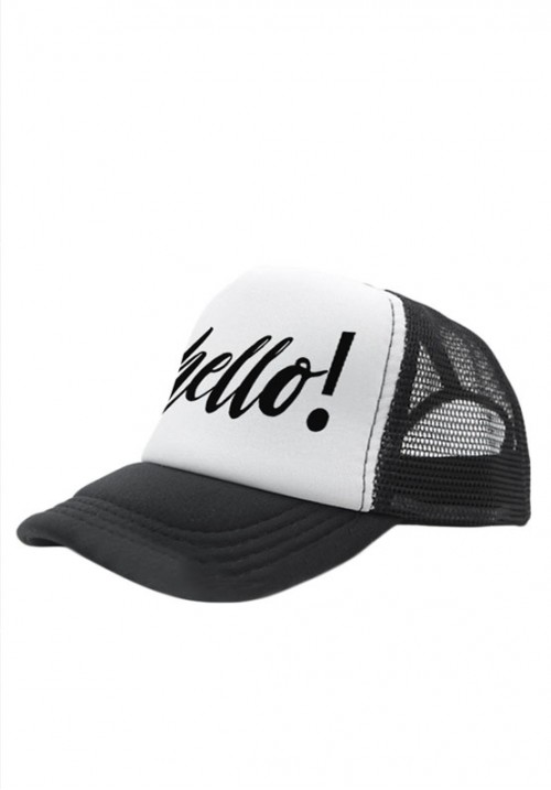 Hello! Monochrome Kids snapback hat