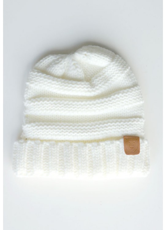 Beige Knitted Beanies